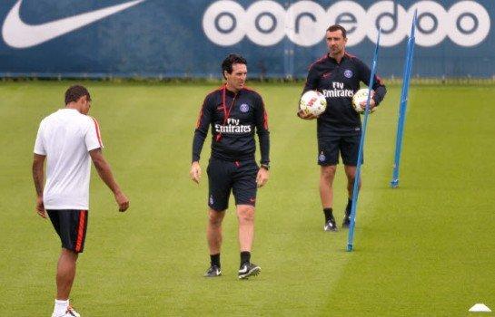 Thiago Silva a repris l'entraînement collectif ce lundi.