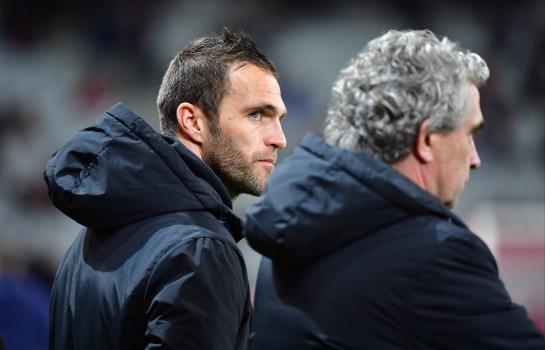 Le coach Julien Sablé et Dominique Rocheteau, directeur sportif de l'ASSE
