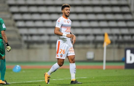 Denis Bouanga, milieu offensif du FC Lorient