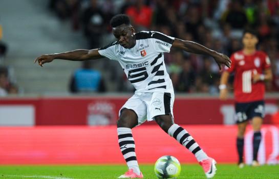 Faitout Maouassa, ailier gauche du Stade Rennais.