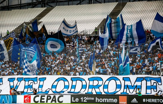 Les supporters de l'OM au Vélodrome