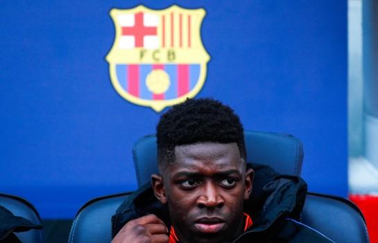 Ousmane Dembélé sur le bac du Barça.
