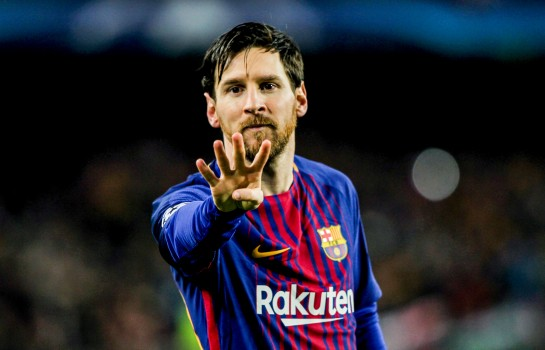 Lionel Messi, capitaine du FC Barcelone.