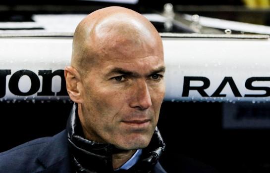 Zinedine Zidane heureux pour la victoire de ses hommes conte la Gérone.