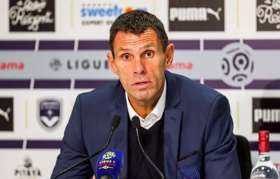 Gustavo Poyet, l'entraineur des Bordelais en conférence de presse