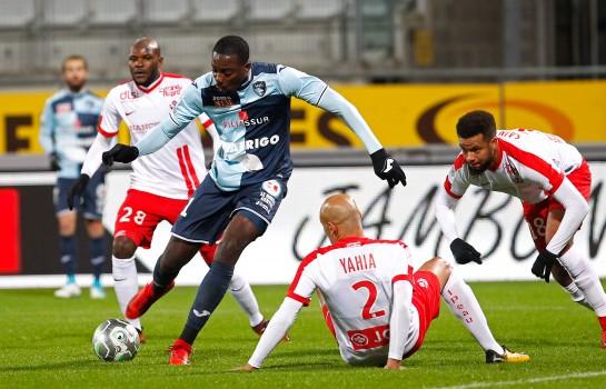 Jean-Philippe Mateta, attaquant de l'OL prêté au Havre AC.