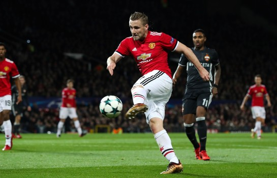 Luke Shaw, défenseur anglais de Manchester United.