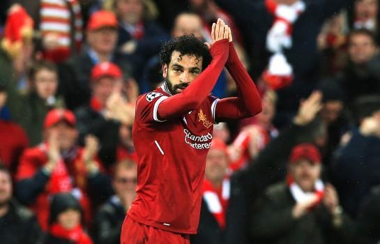 Mohamed Salah évoluant sous les couleurs de Liverpool