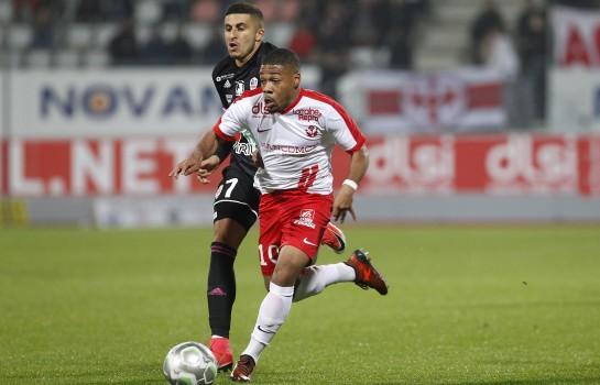 Arnaud Nordin, ailier de l'ASSE prêté à Nancy la saison dernière.