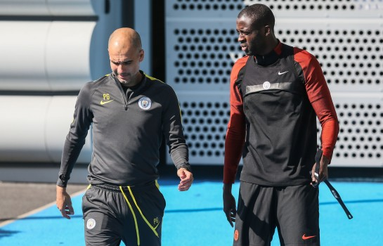 Guardiola et Yaya Touré à Manchester City.