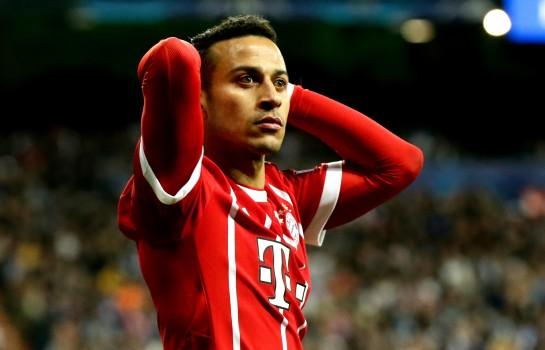 Thiago Alcantara lors d'une rencontre avec le Bayern Munich