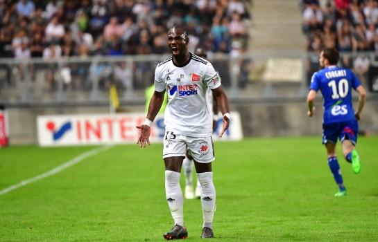 Moussa Konaté, attaquant sénégalais d'Amiens SC.