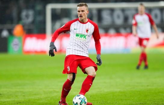 Philipp Max, latéral gauche allemand du FC Augsburg.