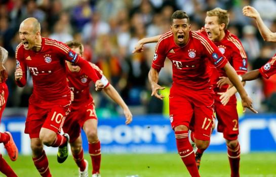Jérôme Boateng et Arjen Robben sous les couleurs du Bayern Munich.