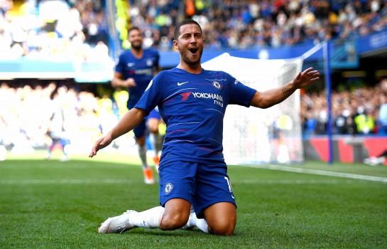 Eden Hazard, meneur de jeu de Chelsea FC.