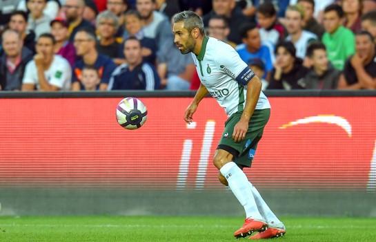 Loïc Perrin, capitaine de l' ASSE forfait contre le SM Caen.