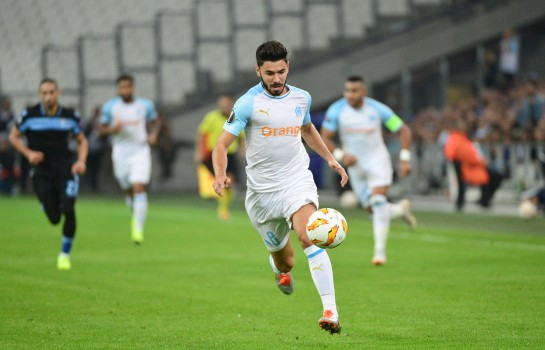 Morgan Sanson, auteur de l'unique but du match SM Caen-OM
