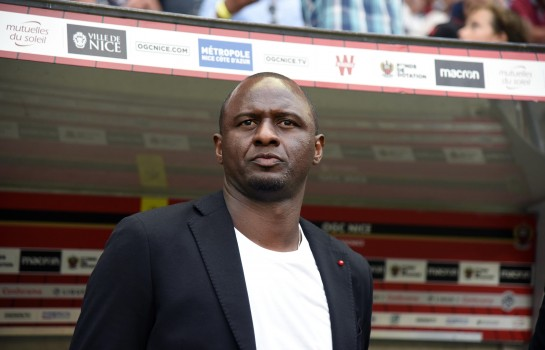 Patrick Vieira, entraîneur de l'OGC Nice