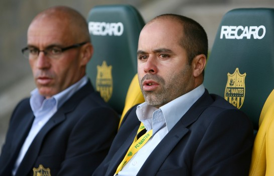 Stéphane Ziani (à droite), entraineur des U-19 Nationaux du FC Nantes.