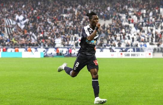 Yann Karamoh, attaquant prêté par l'Inter Milan aux Girondins de Bordeaux.