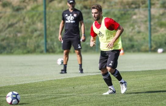 Jordan Ferri, milite de terrain de l'OL prêté à Nîmes Olympique.