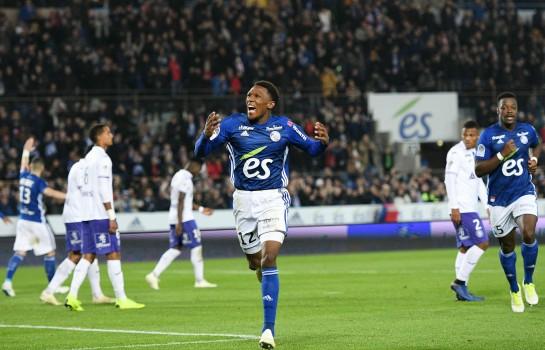 Lebo Mothiba, attaquant au RC Strasbourg.