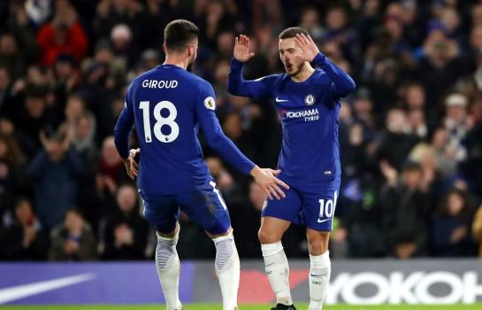 Eden Hazard et Olivier Giroud.