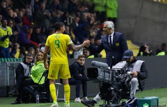 Emiliano Sala et son ex-coach Vahid Halilhodzic.