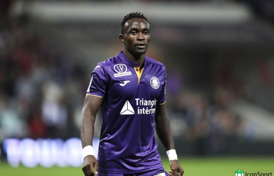 Firmin Mubele, attaquant au Toulouse FC.