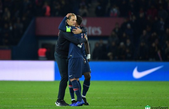Thomas Tuchel et le capitaine  du PSG, Thiago Silva.
