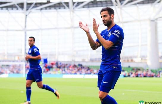 Cesc Fabregas faisant ses adieux à Chelsea avant sa venue à Monaco.
