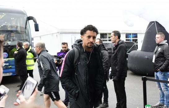 Marquinhos, défenseur central du PSG.