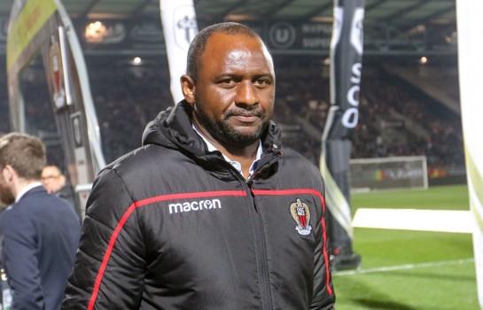 Patrick Vieira, entraîneur de l' OGC Nice, ciblé par Chelsea FC.