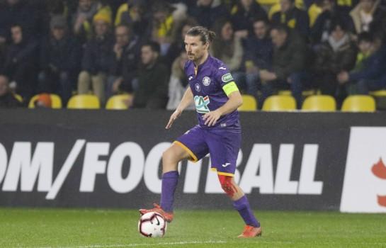 Yannick Cahuzac, milieu défensif au Toulouse FC.