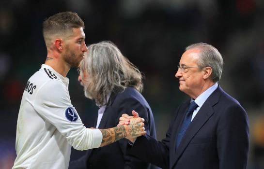 Sergio Ramos et Florentino Pérez, président du Real Madrid.