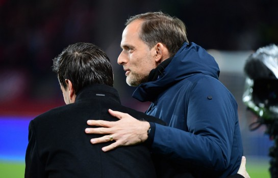 Julien Stéphan et Thomas Tuchel, entraîneurs du Stade Rennais et du PSG.
