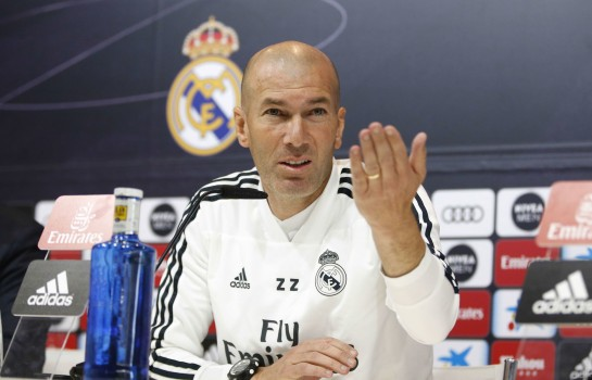 Zinedine Zidane présent en conférence de presse.