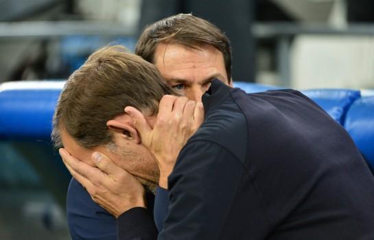Thomas Tuchel et Rudi Garcia, entraîneurs du PSG et de l' OM.