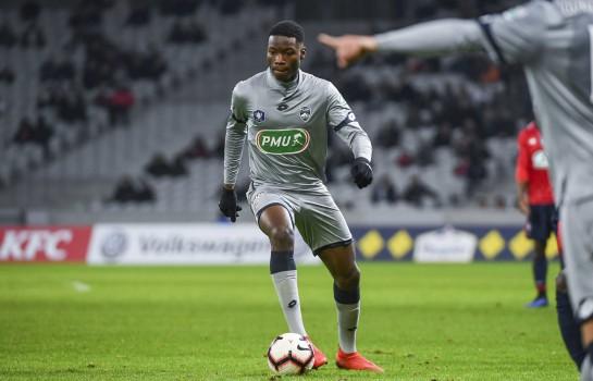 Lucien Agoumé, milieu de terrain du FC Sochaux, visés par le PSG, ASSE, Monaco et OL.