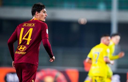 L' OM pourrait obtenir le prêt de Patrik Schick, joueur de l' AS Rome