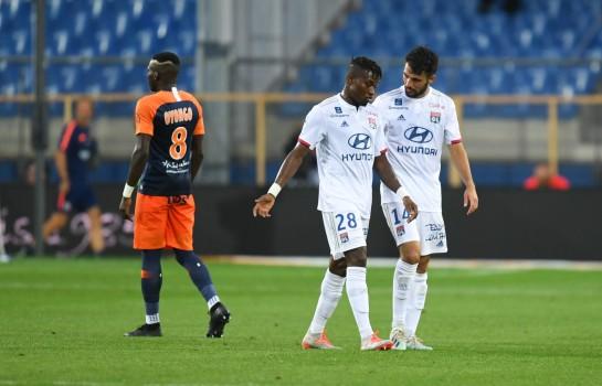 Youssouf Koné expulsé lors de Montpellier - OL.