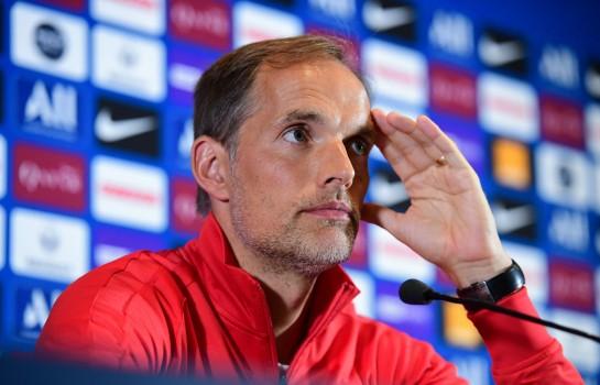 Thomas Tuchel, coach du PSg, en conférence de presse.
