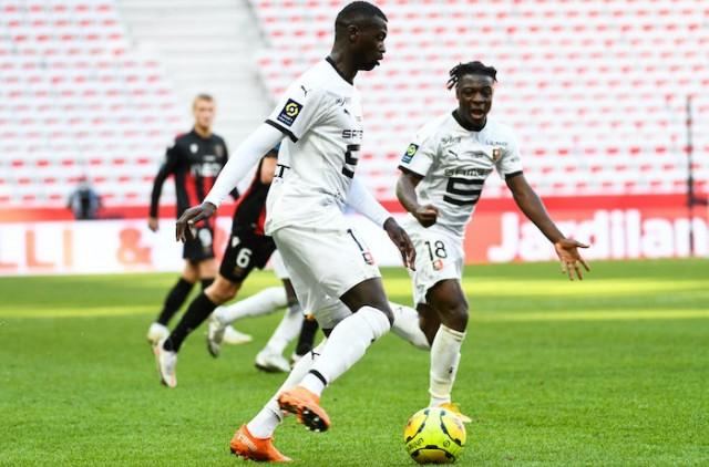 Mbaye Niang, lors du match Stade Rennais - OGC Nice