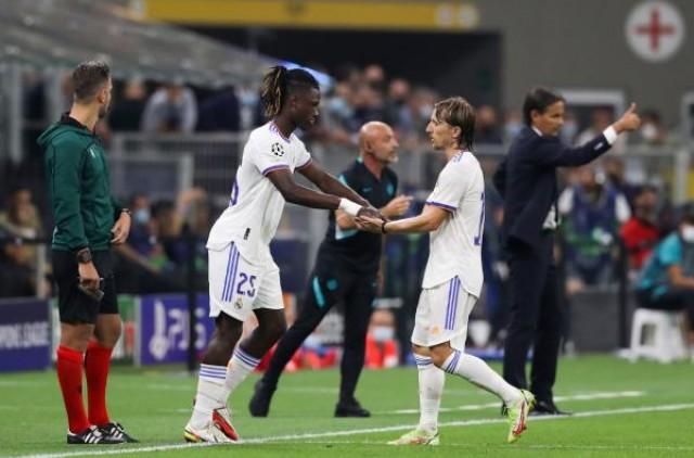 Camavinga remplaçant de Modric contre l'Inter
