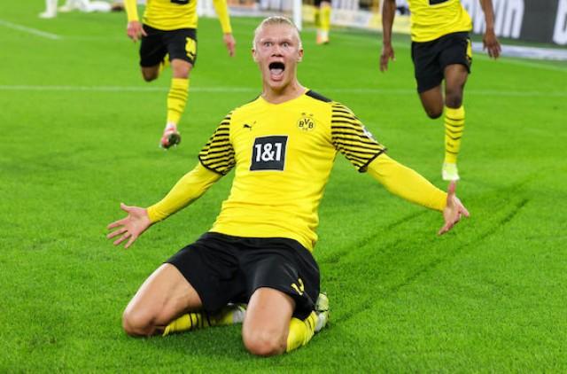 erling haaland sous le maillot de Dortmund
