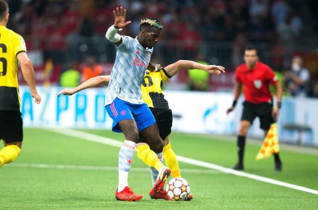 Paul Pogba lors de Manchester United - Dortmund