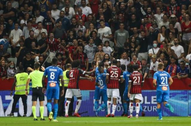 Dimitri Payet victime d'un projectile contre Nice