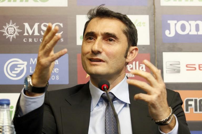 L'entraîneur du Barça Ernesto Valverde envoie un message à ses dirigeants.
