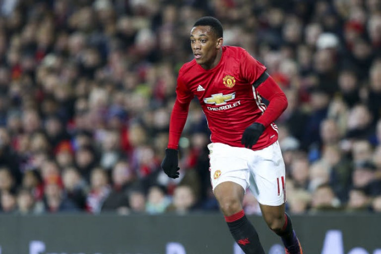 Anthony Martial, attaquant de Manchester United