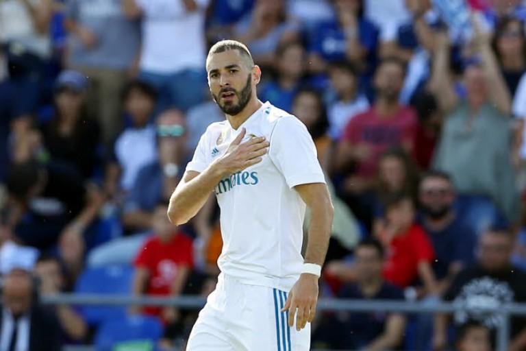 karim Benzema attaquant du réal Madrid formé à l'OL.